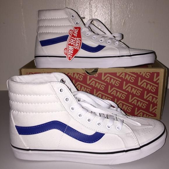 71bbd0b056 NWT Vans SK8-Hi Reissue Canvas True White Blue